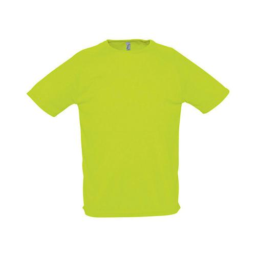 Tee-shirt uni technic PES adulte vert fluo