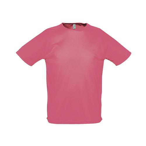 Tee-shirt uni technic PES adulte corail fluo