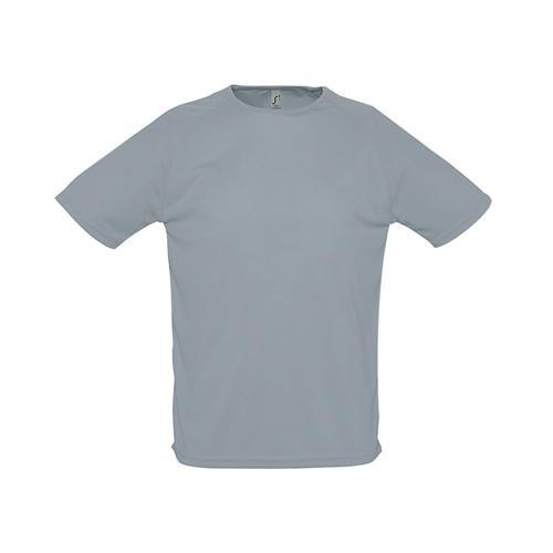 Tee-shirt uni technic PES adulte gris
