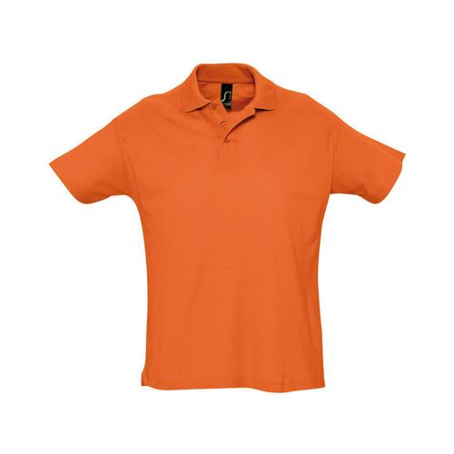 Polo piqué Summer enfant orange