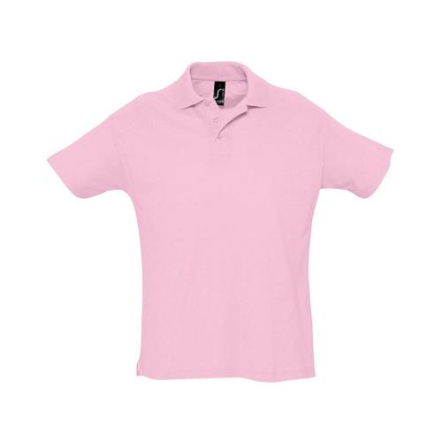 Polo piqué Summer enfant rose