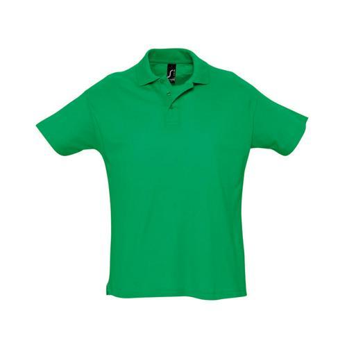 Polo piqué Summer enfant vert