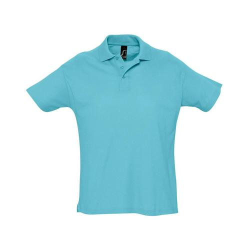 Polo piqué Summer adulte bleu atoll