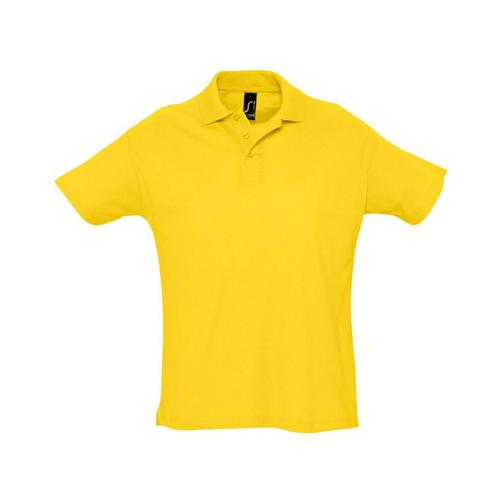 Polo piqué Summer adulte jaune