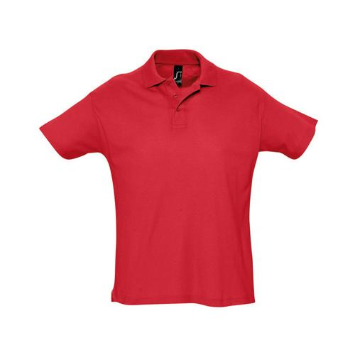 Polo piqué Summer adulte rouge