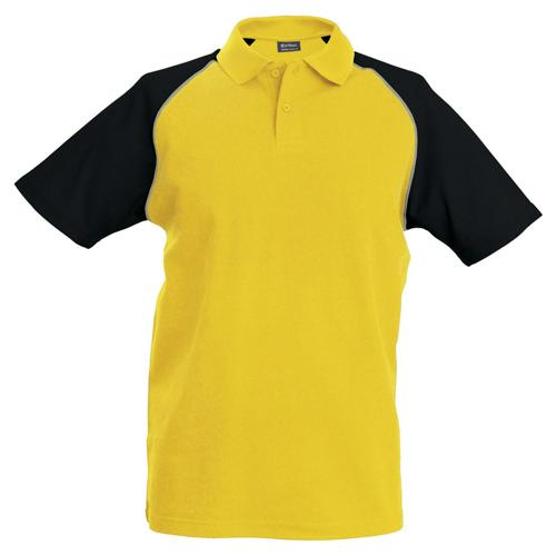 Polo bicolore traditionnal jaune noir
