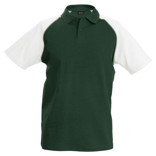 Polo bicolore traditionnal vert blanc