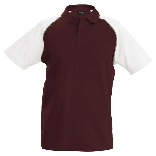 Polo bicolore traditionnal bordeaux blanc