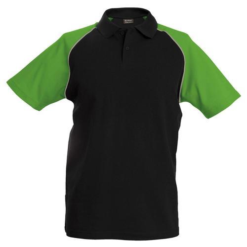 Polo bicolore traditionnal noir vert