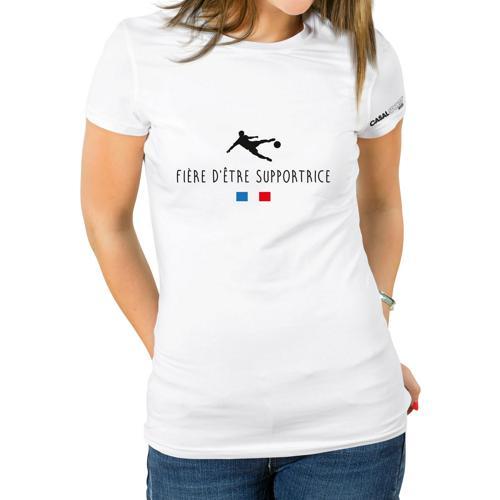 T-shirt Coton blanc femme Casal Sport fière d'être supportrice
