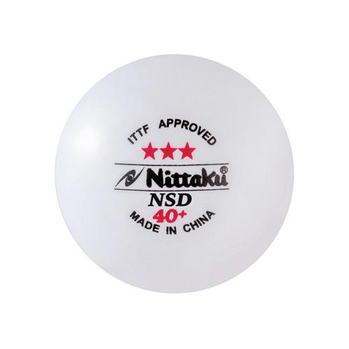 Tube de 3 balles PVC Nittaku NSD 40+ blanches 3 étoiles