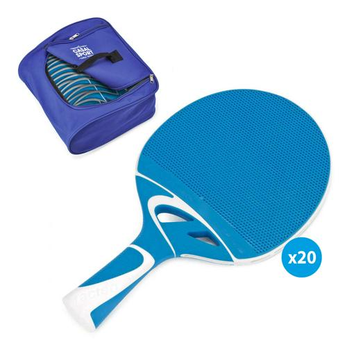 Raquettes de tennis de table Cornilleau Tacteo 30 + sac spécial - Lot de 20