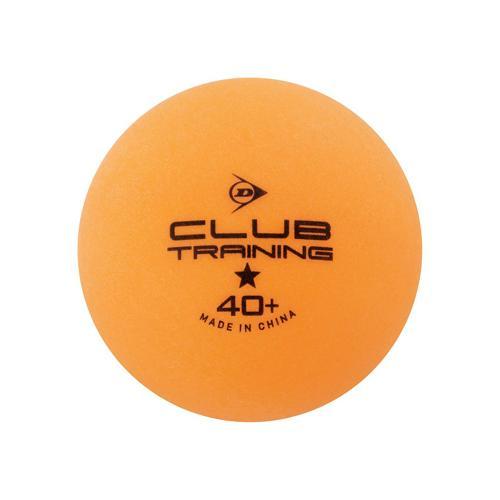Lot 144 balles de tennis de table - Dunlop - club training orange