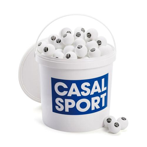 Seau de balles de tennis de table Casal training blanches