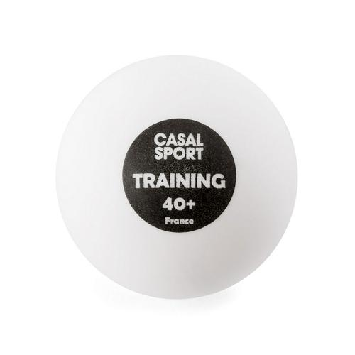 Seau de balles de tennis de table Casal training 40+ blanches