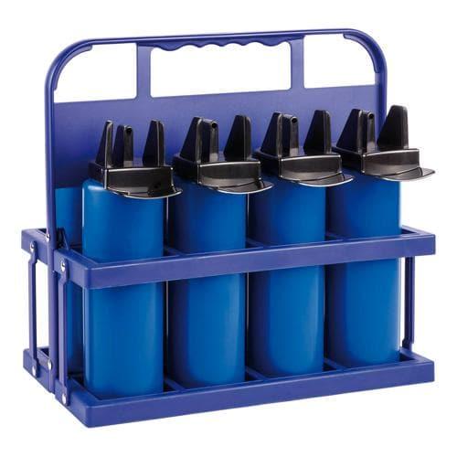 Porte bouteilles Hygienique Pro avec 8 bidons 100ml