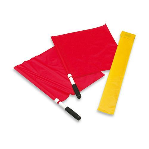 2 drapeaux rouges juge de lignes