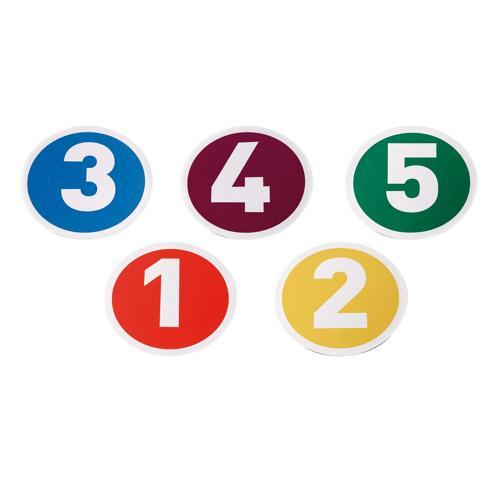 Lot de 5 marquages au sol numerotés de1 à 5 PROTRAINER