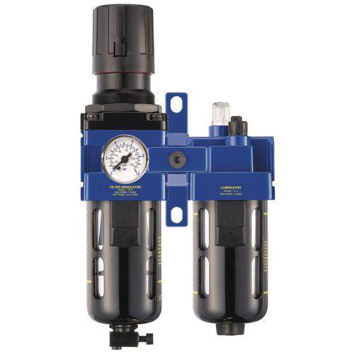 Filtre régulateur lubrificateur 1/2 gaz BSP
