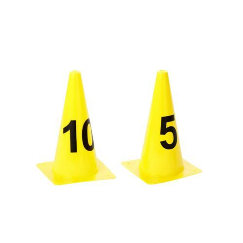 LOT DE 25 CONES 30 cm NUMEROTES 1 A 25