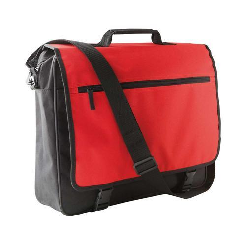 Sacoche porte-documents rabat CASAL SPORT Bicolore Rouge/Noir