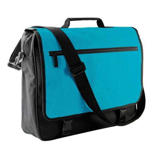 Sacoche porte-documents rabat CASAL SPORT Bicolore Turquoise/Noir