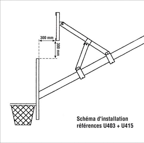 CHASSIS DE FIXATION POUR BUT DE BASKET (LA PAIRE)