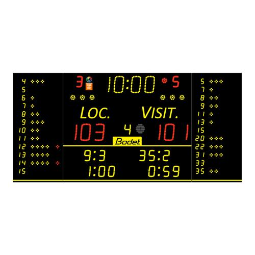 Afficheur Bodet 8T125 - F6 FIBA et pupitre Scorepad