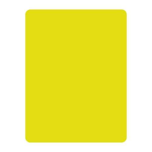 Carton d'arbitre jaune en PVC