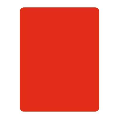 Carton d'arbitre rouge en PVC