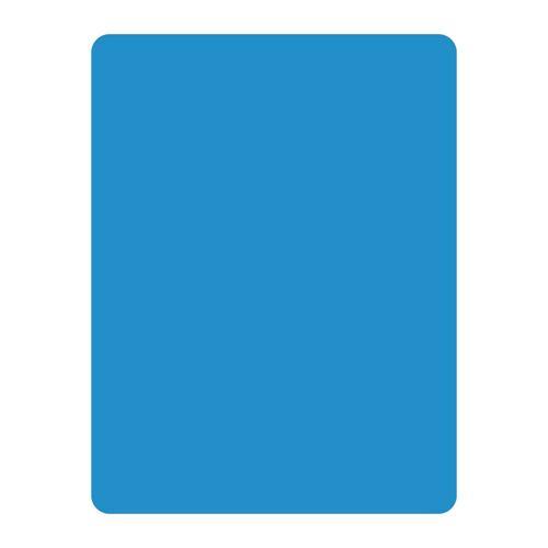 Carton d'arbitre bleu en PVC