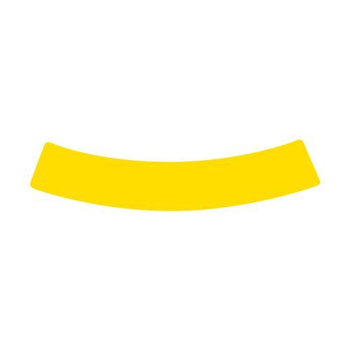 Courbe jaune marquage au sol