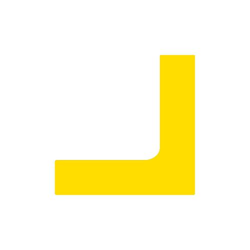 Angle jaune marquage au sol