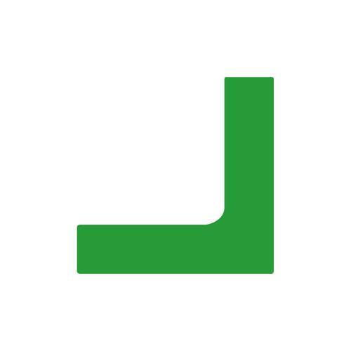 Angle verte marquage au sol