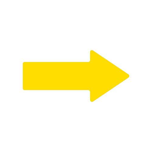 Flèche jaune marquage au sol