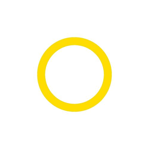 Cercle jaune marquage au sol