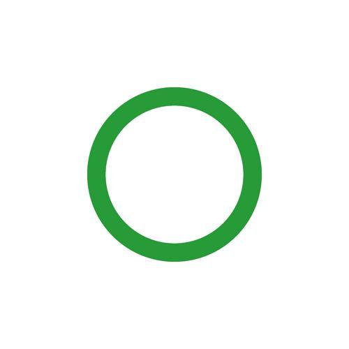 Cercle vert marquage au sol
