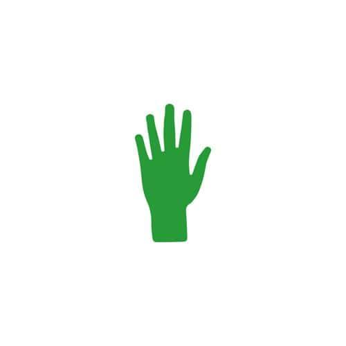 Main verte marquage au sol