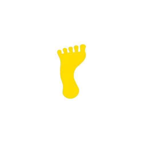 Pied jaune marquage au sol