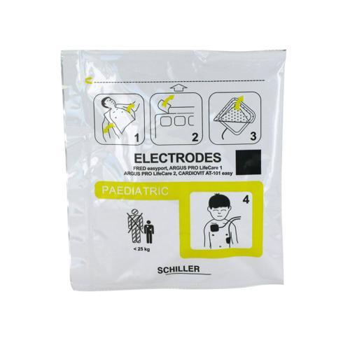 ELECTRODES ENFANTS (LA PAIRE) DEFIBRILLATEUR FRED EASY LIFE GAMME DAE SCHILLER