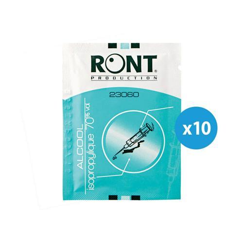 Lot de 10 tampons d'alcool