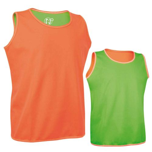 Chasuble réversible orange/vert Pro Rugby