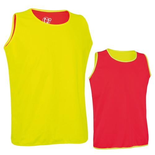 Chasuble réversible jaune/rouge Pro Rugby