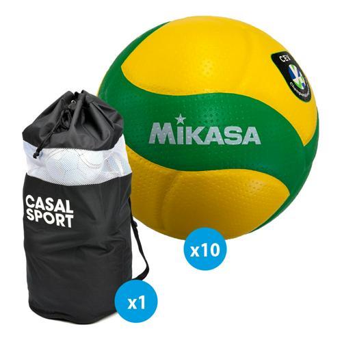 Lot 10 ballons volley - Mikasa - V200W CEV
