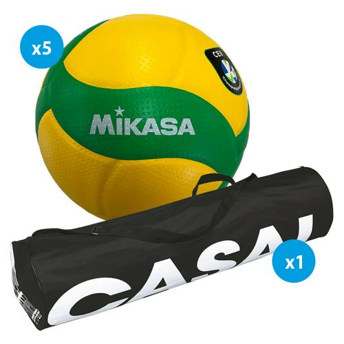 Lot 5 ballons volley - Mikasa - V200W CEV