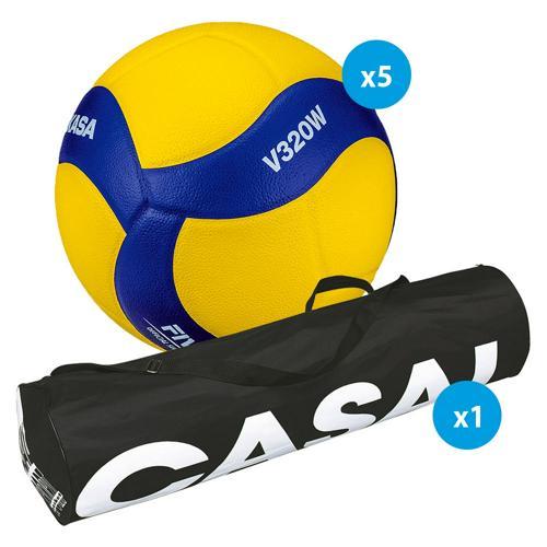 Lot 5 ballons volley - Mikasa - V320W