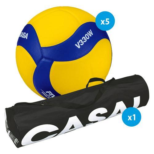 Lot 5 ballons volley - Mikasa - V330W