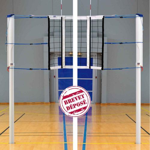 Poteaux de volley GES en acier évolution haute compétition