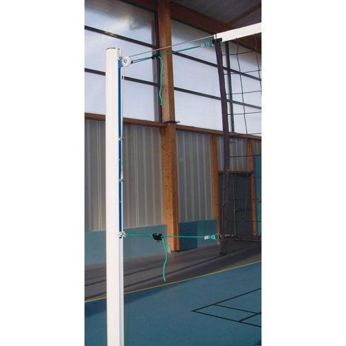 Poteaux en acier, de diamètre 90, galvanisé et plastifié avec cabestan, livrés sans fourreaux / la paire