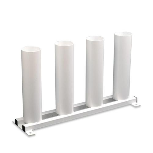Rangement vertical pour poteaux de volley ball